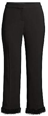 Lafayette 148 New York Women's Manhattan Double-Face Flare Ankle Pants