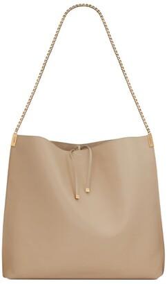 Saint Laurent Medium Leather Suzanne Hobo Bag