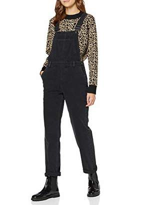 find. MRW2525 Dungarees Women, (Washed Black), (Size:L)