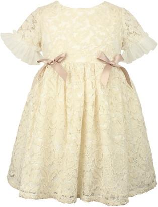 Popatu Tulle Sleeve Lace Dress