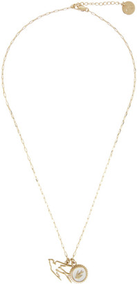 McQ Gold Double Swallow Necklace