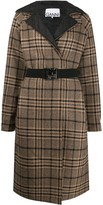 Ganni belted reversible coat