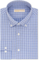 MICHAEL Michael Kors Men's Big and Tall Classic Fit Blue Check Dress Shirt