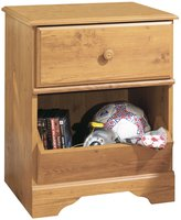 Green Baby South Shore Little Treasures Collection Night Stand - Country Pine