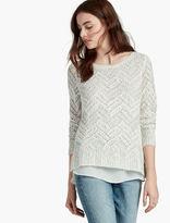Lucky Brand Chevron Shine Sweater