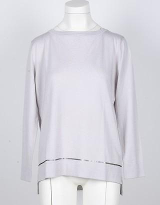 Snobby Sheep Ice Gray Silk and Cashmere Women's Sweater