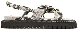 No.21 Snakeskin-Effect Sandals