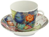 Williams-Sonoma Williams Sonoma Mottahedeh Teacup and Saucer, Tobacco Leaf