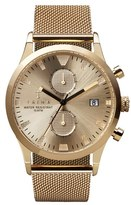 Triwa 'Sort Of Black' Chronograph Mesh Strap Watch, 38Mm