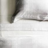 Houndstooth Jacquard Bedding, Gray