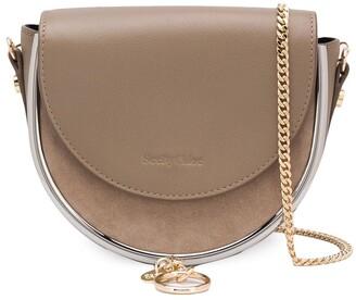 See by Chloe Embossed Logo Chain Strap Satchel Bag