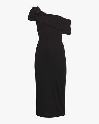 Badgley Mischka Off Shoulder Sheath Gown
