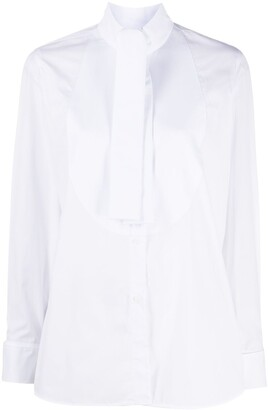 Emporio Armani Bib-Collar Long-Sleeve Shirt