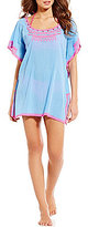 Gianni Bini Embroidered Tunic Cover-Up