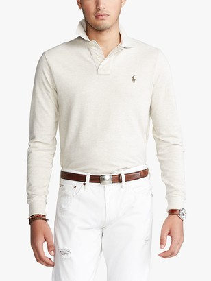 Ralph Lauren Polo Custom Slim Fit Mesh Polo Shirt