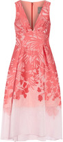 Lela Rose Floral organza-jacquard dress