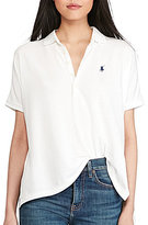 Polo Ralph Lauren Collared Short Sleeve Solid Poncho Polo Shirt