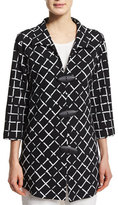 Caroline Rose Gridlock Easy Shirt with Drama Buttons, Plus Size
