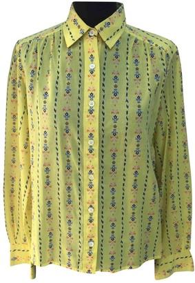 Celine Yellow Cotton Tops