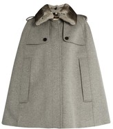Burberry Wolseley wool and cashmere-blend cape