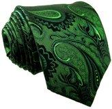 Shlax & Wing Shlax&Wing Long Size Mens Necktie Paisley Dark Silk Tie Wedding New