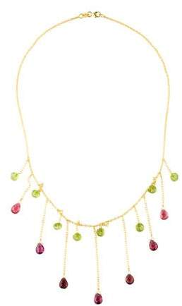 Farah Tanya 14K Peridot, Tourmaline & Garnet Collar Necklace