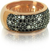 Azhar Black Cubic Zirconia Silver Vermeil Ring