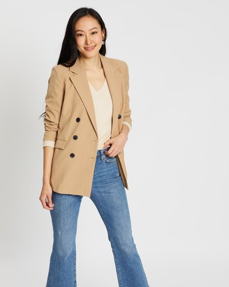 Mng Melchor Double-Breasted Blazer