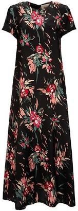 La DoubleJ Floral Swing Twill Silk Dress