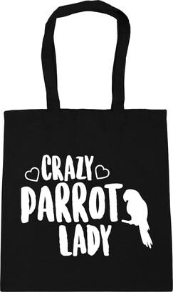 Crazy cockatiel lady Tote Shopping Gym Beach Bag 42cm x38cm 10 litres
