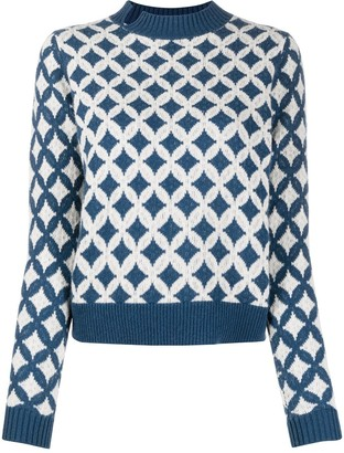 Allude Patterned Cashmere Jumper