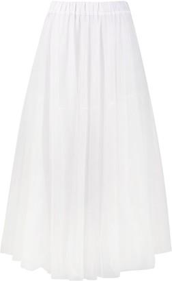 P.A.R.O.S.H. Long Mesh Pleated Skirt