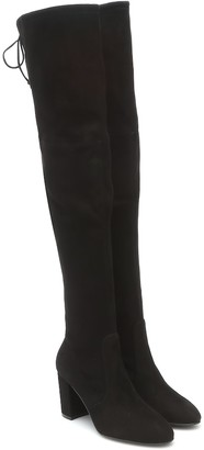 Stuart Weitzman Zuzanna 80 suede over-the-knee boots