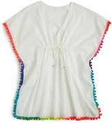 Pilyq Girls' Pompom Poncho - Sizes S-L