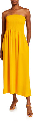 Nina Ricci Strapless Corseted Midi Dress