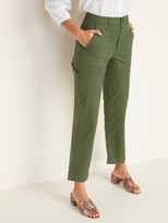 Old Navy High-Waisted Slim Wide-Leg Cropped Utility Chinos For Women