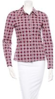 Tory Burch Abstract Print Button-Up Shirt