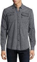 G Star G-Star Landoh Printed Denim Shirt, Gray