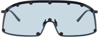 Rick Owens Blue Shielding Sunglasses
