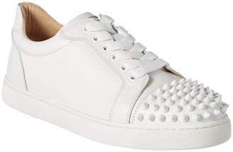 Christian Louboutin Vieira Spike Leather Sneaker
