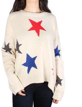 Zadig & Voltaire Markus C Star Cashmere Sweater - Toile