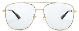 Gucci Aviator Metal Sunglasses - Light Blue