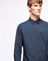 Micro Print Flannel Shirt