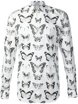 Alexander McQueen butterfly and moth print shirt