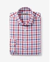 Express fitted plaid dress shirt