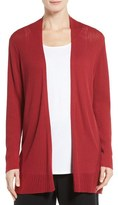 Eileen Fisher Ribbed Silk & Organic Cotton Cardigan