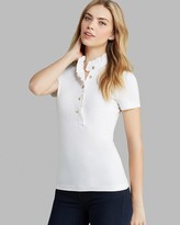 "Tory Burch Lidia"" Ruffled Stretch Cotton Polo"