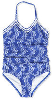 Hula Star Girls 2-6x Sea Horse Patterned One-piece Swimsuit
