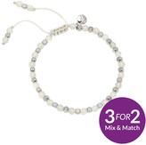 Lola Rose Portobello Silver Tone Semi Precious White Moonstone Friendship Bracelet