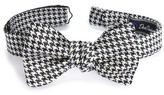 David Donahue Men's Houndstooth Silk Bow Tie